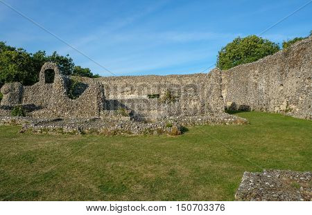 Eynesford Castle in Kent, the ruins of a Norman Castle