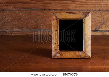 photo frame on old table