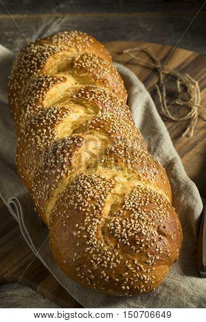 Homemade Sesame Challah Bread