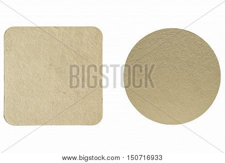 Vintage Looking Beermat Drink Coaster Isolated
