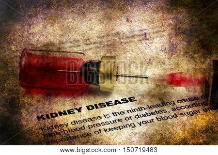 Kidney Disease Form Grunge Concept
