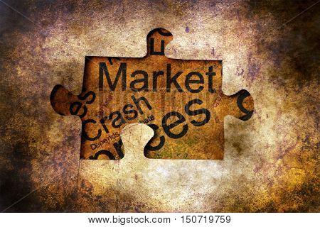 Crash Market Puzzle Concept