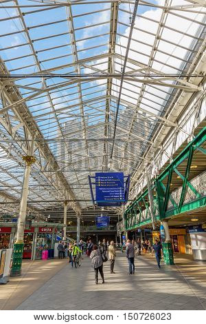 Inside The Waverly Station In Edinburgh, Scotland