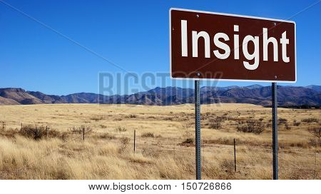 Insight Brown Road Sign