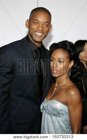 Will Smith and Jada Pinkett Smith at the Los Angeles premiere of 'The Pursuit of Happyness' held at the Mann Village Theater in Westwood, USA on December 7, 2006.