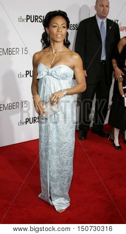 Jada Pinkett Smith at the Los Angeles premiere of 'The Pursuit of Happyness' held at the Mann Village Theater in Westwood, USA on December 7, 2006.