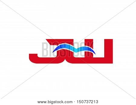 JW Logo. Vector Graphic Branding Letter Element