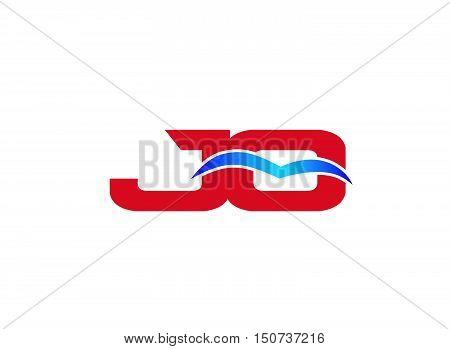 JO Logo. Vector Graphic Branding Letter Element