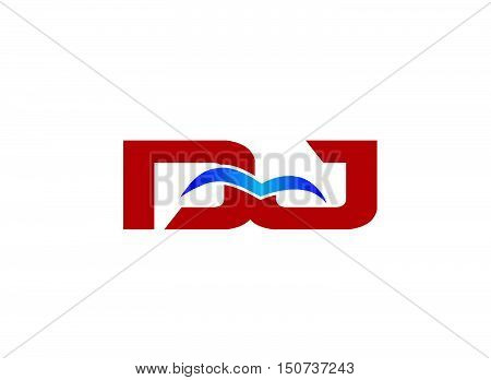 Letter DJ Logo design vector template abstract