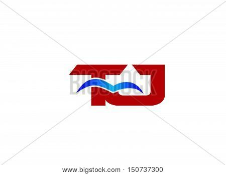 Letter TJ Logo design vector template abstract
