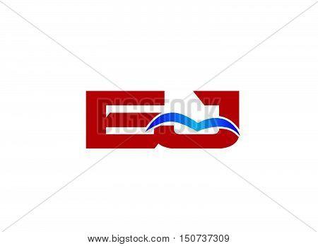 Letter EJ Logo design vector template abstract