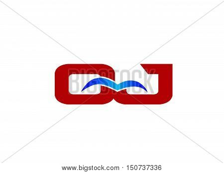 Letter QJ Logo design vector template abstract