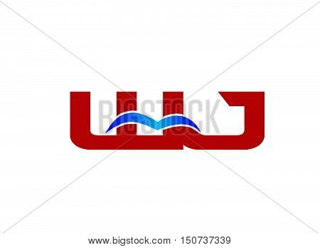 Letter WJ Logo design vector template abstract