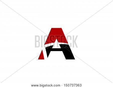 Logo A Letter company vector design template