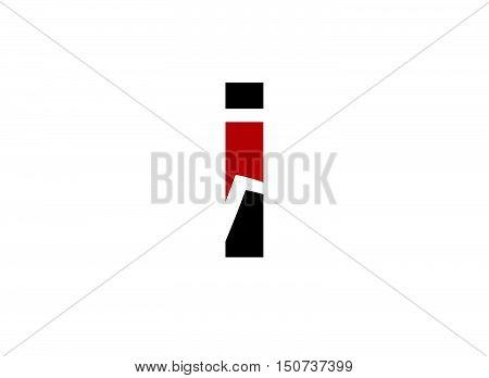 letter I logo icons design template elements