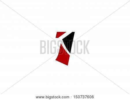Number logo design.Number one logo .Abstract logo design template