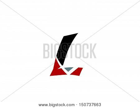 Abstract letter L logo icon design .Abstract logo design template