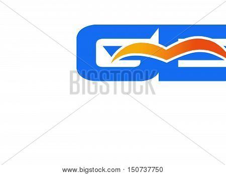 Ge logo design vector illustration template abstract