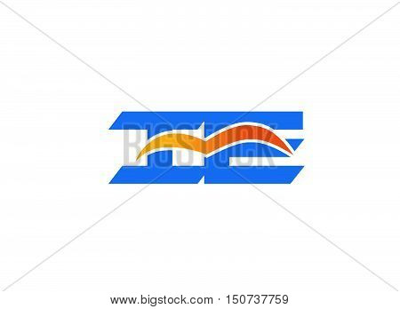 ie logo design vector illustration template 1