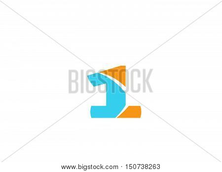 Number 1 logo. Vector logotype design . Vector illustration of abstract icons