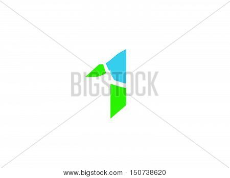 Abstract Number 1 logo Symbol  .Vector illustration of abstract icons