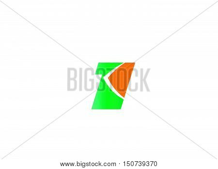 Abstract Number 1 logo Symbol icon design vector tempplate