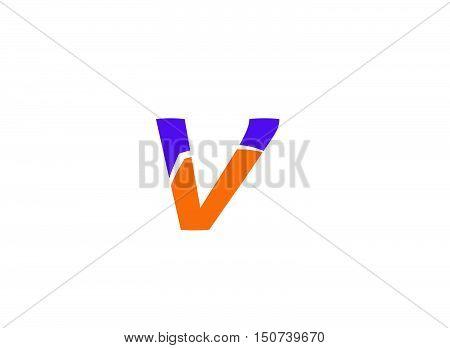 Letter V logo design vector template 1