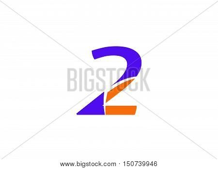 Abstract icons for number 2 logo .Number logo icon design template elements