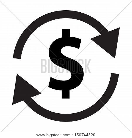 money transfer icon. money convert icon. money transfer icon on white background