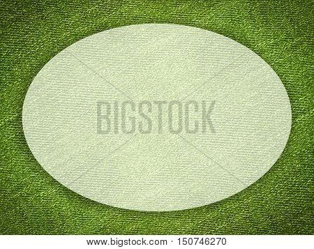 art white ellipse on grunge green illustration background
