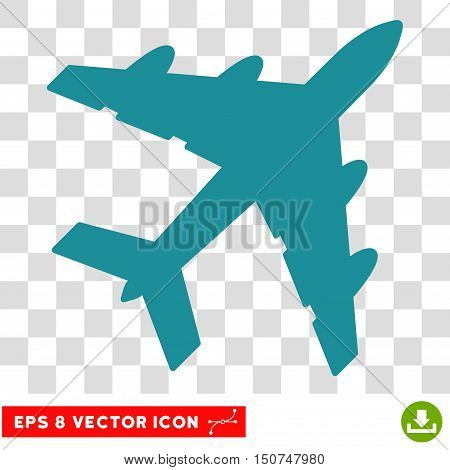 Vector Bomber EPS vector pictogram. Illustration style is flat iconic soft blue symbol on a transparent background.