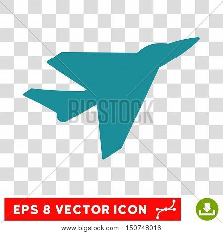 Vector Intercepter EPS vector pictogram. Illustration style is flat iconic soft blue symbol on a transparent background.