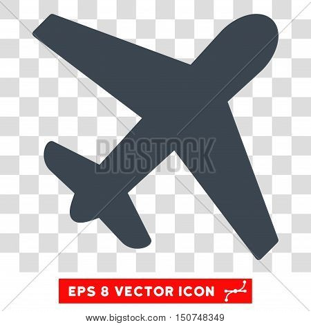 Vector Airplane EPS vector icon. Illustration style is flat iconic smooth blue symbol on a transparent background.