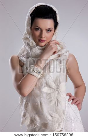Young Woman In Fashionable Clothing