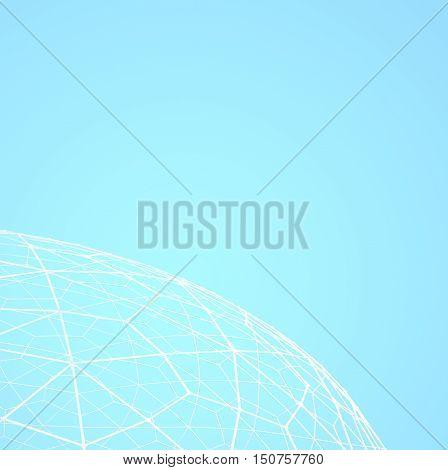 abstract soccer goal net pattern, 3D illustration