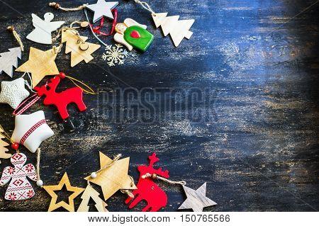 Christmas Frame With Christmas Ornaments