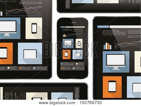 Mobile Device , Tablet And Smart Phone - Communication Technology Concept
