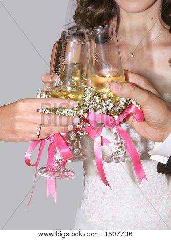 Hands And Wedding Glasses