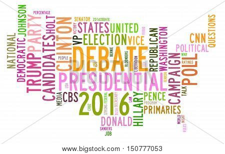 Usa Presidential Election Debates In Word Tag Cloud