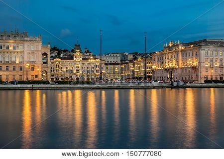 Piazza Dell Unita D Italia in Trieste Italy