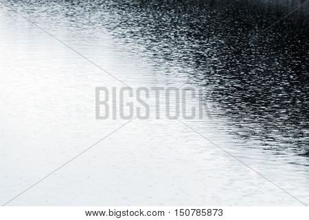 Wet Asphalt Road With Puddles And Rain Ripples