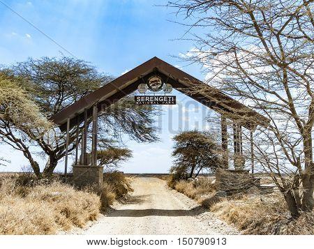 Entrance Of Serengeti National Park In Tanzania