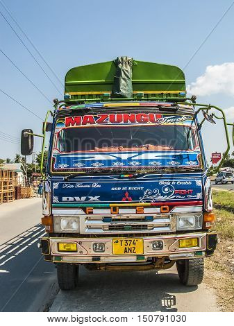 Colorful Overland Truck To Serve The Highway To Dar Es Salaam