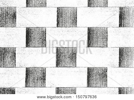 Distressed overlay wooden parquet texture grunge vector background.