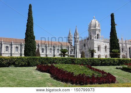 Mosteiro Dos Jeronimos (Monastery of the Hieronymites) in Lisbon. Portugal