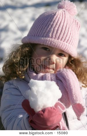 Girl Making A Snow Ball