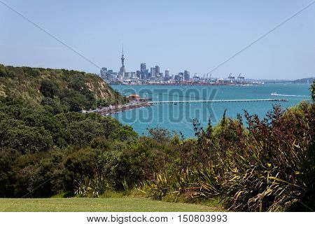View to Auckland New Zealand, Auckland Bay