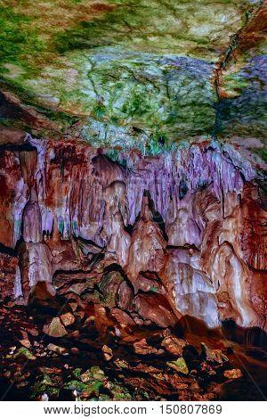 Marble Cave Chatyrdag plateau Crimea Russia by Sergey Nosov