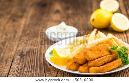 Fish Fingers (selective Focus)