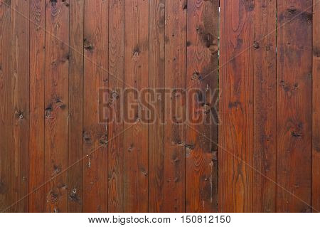 Old garden gate made of wooden planks. Detailed view.